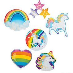 Unicorn party decorations - cutouts