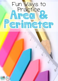 fun ways to teach about area and perimeter. blog post with freebies
