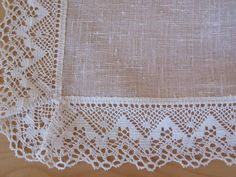 Linen Tablecloth Natural White Linen Lace