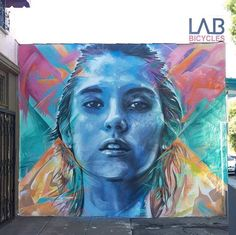 Street Art by Christina Angelina & djn3ff found in LA