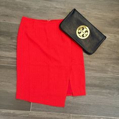Red side-slit skirt! If you like this item check out TheDailyGlam.net for more ☺️ Price is final! No trades! I have 1XS, 1S, 2M. Do not purchase this item I will create a listing for you! Skirts