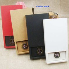 12pcs 4color Jewelry Gift Boxes Cardboard Boxes for Necklaces earring jewelry pendant Packaging display Rectangle11.5*8*2.50cm-in Jewelry Packaging & Display from Jewelry & Accessories on Aliexpress.com | Alibaba Group