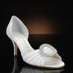 something bleu cash white  Wedding Shoes