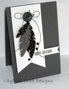 Happy Birthday w/feathers | CAS card