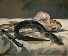 Edouard Manet - Still Life with Eel and Red Muller (1024×841)