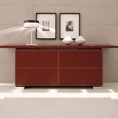 Shamal Leather Slide A Sideboard, 105 Inch · Modern Buffets ...