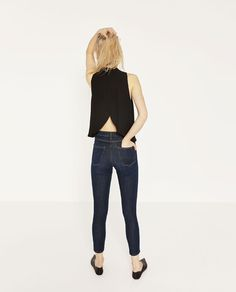 Image 1 of OPEN BACK TOP from Zara