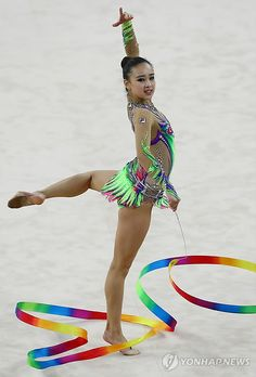 Rhythmic Gymnast Son Yeon Jae Wins 5 Gold Medals at Asian Championships | Koogle TV
