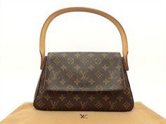 Louis Vuitton Authentic Monogram Mini Looping Shoulder Bag Auth LV Louis Vuitton Shoulder Bag, Louis Vuitton Monogram, Handbags, Best Deals, Mini, Pattern, Ebay, Accessories, Vintage