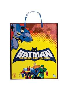 Batman Plastic Tote Bag - Favor Bags & Boxes and Individual Party Supplies