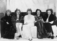 Isabel Jewell, Mayo Methot, Bette Davis, Rosalind Marquis and Lola Lane in MARKED WOMAN 1937
