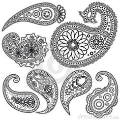 Paisley Set Of Paisley Patterns For Design. Royalty Free Stock Photo - Image: 15225635