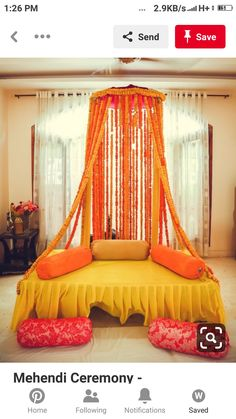Looking for Beautiful floral seating ideas for mehendi? Browse of latest bridal photos, lehenga & jewelry designs, decor ideas, etc. on WedMeGood Gallery.