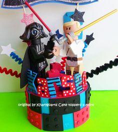 Lego theme Stars War Birthday cake topper