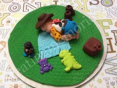 """FONDANT BABY TOPPER - Cowboy baby cake topper. 6"""" base topper great for baby showers, first birthday and more. You can chose your colors. by anafeke2 on Etsy https://www.etsy.com/listing/182659866/fondant-baby-topper-cowboy-baby-cake"""