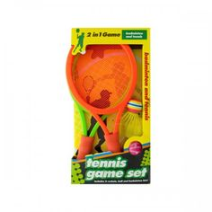2 In 1 Badminton And Tennis Game Set.Great for all ages, this 2 in 1 Badminton and Tennis Game Set can be played virtually anywhere. Fun design features brightly colored rackets with nylon mesh faces and comfortable foam handles, a rainbow birdie and a pink striped ball for tennis. Includes 2 rackets, 1 ball and 1 badminton bird. Comes packaged in an individual box. #onlineshopping #online #shopping #shoponline #shopnow #bulk #bulkbuy #sale #freeshipping #gamer #gameday #badminton #tennis