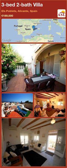 3-bed 2-bath Villa in Els Poblets, Alicante, Spain ►€189,000 #PropertyForSaleInSpain
