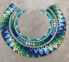Great additional piece to put on for work as pictured. Also looks great for a gala, or evening out. Soutache Jewelry, Beaded Jewelry, Beaded Necklace, Handmade Beads, Handmade Necklaces, Macrame Jewelry Tutorial, Beaded Crafts, Beaded Collar, Bead Loom Patterns
