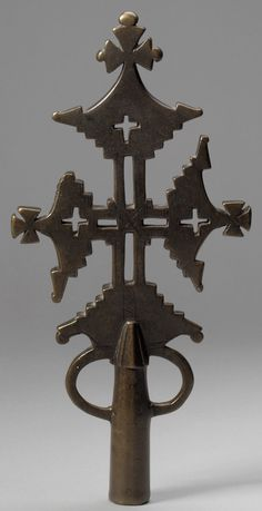 Processional Cross/Date: 14th–15th century Geography: Ethiopia, Lasta region Culture: Tigrinya peoples Medium: Brass