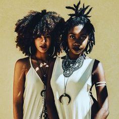 Beautiful - found on #tumblr Models @kingkesia & @alannanicolex Photographer @jamieblak #fashion #summer #blackwomen #melanin #style #naturalhair #naturalista #africainspired #sisterhood #apif #apifrocks