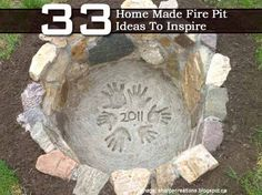 33 Home Made Fire Pit Ideas To Inspire