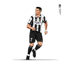 Excellent football player illustrations created by FCVectoraldo. They featured present day greats as well as past legends in a variety . Cristano Ronaldo, Ronaldo Football, Football Gif, Retro Football, Cr7 Juventus, Cristiano Ronaldo Wallpapers, Manchester United Legends, Soccer Poster, Football Wallpaper