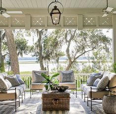 Beautiful outdoor living space by Heather Chadduck for the Southern Living Idea House. Outdoor Rooms, Outdoor Living, Outdoor Furniture Sets, Outdoor Decor, Furniture Ideas, Indoor Outdoor, Modern Furniture, Geek Furniture, Furniture Design