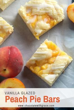 a perfect easy summer dessert for cookouts, potlucks and p… Fresh Peach Pie Bars. a perfect easy summer dessert for cookouts, potlucks and parties. Fresh Peach Recipes, Fresh Peach Pie, Easy Peach Pie, Easy Pie, Peach Pie Bars, Peach Pie Filling, Dessert Bars, Dessert Recipes, Paleo Dessert