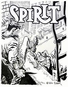 The Spirit by Jordi Bernet (Original) (Signed) by Jordi Bernet at The Illustration Art Gallery