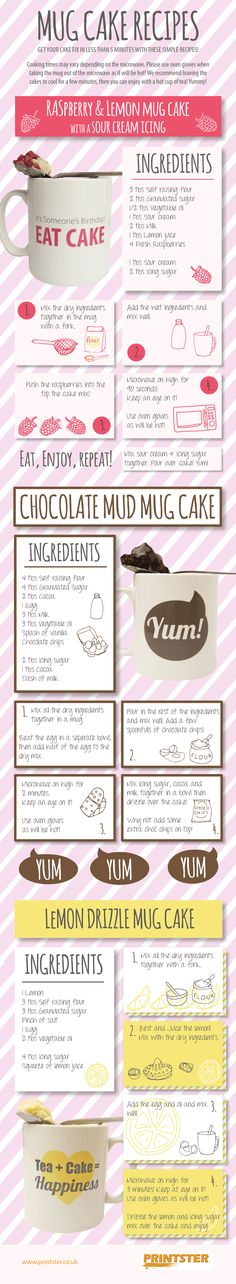 Infographic: Mug Cake Recipes