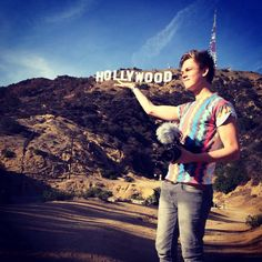 Casper Lee at the Hollywood Sign