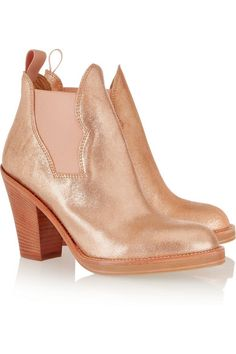 ACNE Star metallic leather ankle boots