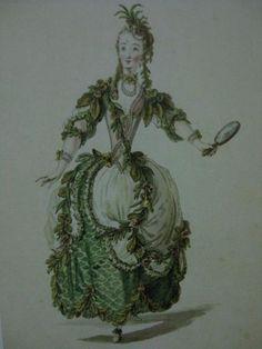 Unknown 18th century fancy dress