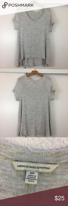 """American Eagle Gray Flowy Top ❣️ Great condition. Size small. Pit to pit 19"""". Length 27"""". No trades ❌❌ No modeling American Eagle Outfitters Tops Blouses"""