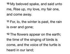 Song of Solomon 2:10-12