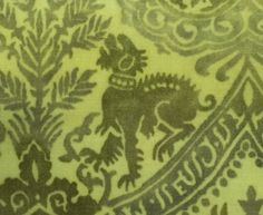 Detail of stenciled pattern on Gallenga cape, from the Vintage Textile archives.