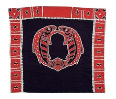 Kwakiutl Button Blanket Attributed to Shona Hah