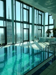 Europe highest pool at InterContinental Warsaw (Poland) http://travel.bart.la/2012/04/29/weekend-in-warsaw-poland/