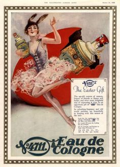 "weirdvintage: "" 4711 Eau de Cologne ad, 1928 (via Vintage Ad Browser) """