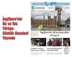 Sizehaber Gazete, İngiltere de yayında, 20 Haziran 2016, Pazartesi
