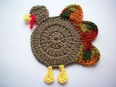 Crocheted Turkey Coaster
