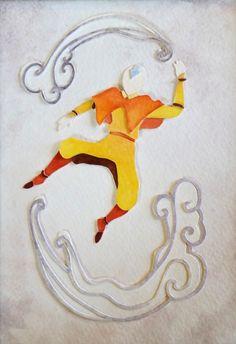 Aang - paper art - atla