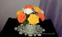 Crepe paper roses by Maria Oroian