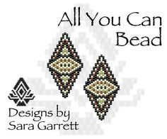 Peyote Earrings Pattern 164 Bead Weaving INSTANT DOWNLOAD PDF