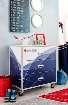 fac3671ea4d Cilek First Class mobile Kommode Mobiles, Airplane Bedroom, First Class, 3  Drawer Chest