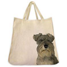 Schnauzer Tote Bag - Color Design