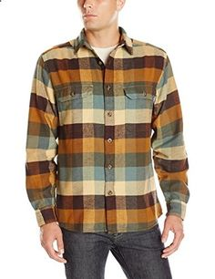 Med Woolrich Men's Oxbow Bend Flannel Shirt, Chicory, Small W... www.amazon.ca/...