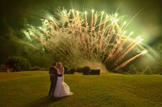 Spectacular fireworks display at Summergrove Estate by Mr. Fireworks! || Kristie & Adrian's wedding 14.02.15