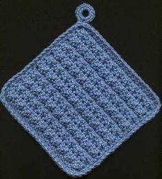 Learn Crochet Double-Thick Potholders More - Crochet Kitchen, Crochet Home, Crochet Crafts, Crochet Projects, Crochet Potholders, Crochet Dishcloths, Crochet Geek, Easy Crochet, Form Crochet
