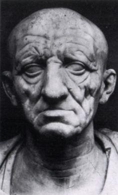 Ritratto di un patrizio romano; prima metà del I secolo a.C.; marmo; Museo Torlonia, Roma.